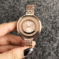 Wholesale swan style for sale - Group buy Fashion swan style Brand Quartz wrist Watches for women girl with crystal dial metal steel band SW04