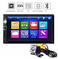 caméra multimédia achat en gros de-Lecteur Multimédia Voiture Universel Autoradio MP5 Lecteur 7''HD Écran Tactile Audio Stéréo Bluetooth USB AUX Support Vue Arrière + 720p Caméra Chaude