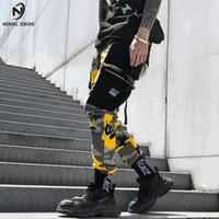 ingrosso usa pantaloni-Camouflage Cargo Pants Uomo 2018 Mens Moda Pantaloni tattici Hip Hop Multi tasche Pantaloni Streetwear Formato USA