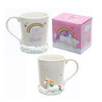coffee mug shapes NZ - Creative Unicorn Mug 3D Animal Shape Tumbler Ceramic Coffee Cup Heat Resistant Birthday Gift New Arrive 17kq C