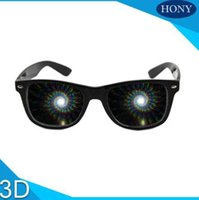 Wholesale 1pcs Premium Spiral Diffraction D Prism Raves Glasses Plastic For Fireworks Display Laser Shows Rainbow Glasses Spirals