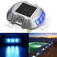 feux gradués étanches achat en gros de-Dock solaire Chemin de la lumière Longue durée ServiceTime LED Lumière Étanche Avertissement extérieur sans fil étanche Lumières pour passerelle allée