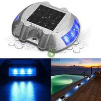 rıhtım ışıkları toptan satış-Güneş Dock Işık Yolu Yol Uzun ServiceTime LED Işık Su Geçirmez Kablosuz Açık Uyarı Adım Işıkları driveway geçit için