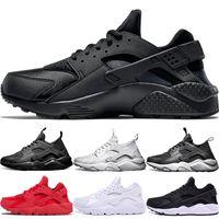 zapatos de bádminton en línea al por mayor-Nike Air huarache 4 IV 1 Hombres Mujeres Zapatillas de running Ultra Triple Negro Blanco Rojo Oreo Huaraches Zapatillas de deporte de diseño Zapatillas de deporte Descuento en línea