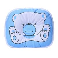 yassı kafa yastıkları toptan satış-Yenidoğan Bebek Bebek Odası Dekor Için ayı Karikatür Yastık Uyku Desteği Önlemek Düz Kafa Yastık Bebek Kafa Koruma Yastıklar