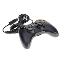 usb joystick controller para pc al por mayor-Controlador de juegos Shock Gamepad USB con cable PC Joypad Joystick Accesorio para computadora portátil PC Consolas de juegos Negro Blanco 30pcs