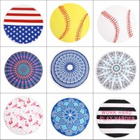 Wholesale blanket lady resale online - Round Beach Towel Blanket Geometric Donuts Printed Microfiber Shower Towels Circle Bohemia Bath Towels Lady Shawl Mat