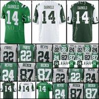 Wholesale round s - 2018 New 14 Darnold York Jets Draft First Round Pick Jersey Men's 22 Matt Forte 24 Darrelle Revis 33 Jamal Adams 87 Eric Decker Jerseys
