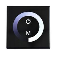 12v wanddimmer großhandel-DIY Home Beleuchtung DC12-24V 4A / CH 3 Kanal Touch Panel Dimmer Wand Dimmbare Wandschalter LED Dimmer Für Einfarbige Led-streifen