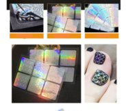 Wholesale laser diy tools online - heap art manicure Sheets Laser Nail Vinyls Hollow Irregular Grid Sticker Nail Art Manicure Stencils DIY Craft Polish Stamping Tool