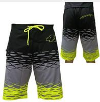 Wholesale h 46 - VR46 MotoGP Boarder Shorts Valentino Rossi The Doctor Vale Fortysix Bermuda VALEYELLOW 46 Short Beachwear H