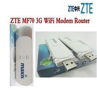 wifi usb gsm venda por atacado-Desbloqueado ZTE MF70 TELSTRA 21.6 M HSPA 3G WCDMA GSM USB Sem Fio Router Cartão SIM Wifi