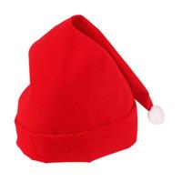 ingrosso decorazioni dei capelli della farfalla-Cappello da Babbo Natale rosso Cappello da Babbo Natale Accessorio per capelli farfalla Fiore Bowknot Decorazione Festa di Natale Cappello Capodanno YS
