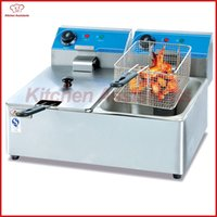 Wholesale electric fishing machine - DF6L-2 2 tanks 2 bakests commercial electric fryer potato fryer machine for fried chicken fish
