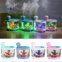 Wholesale Mini Ultrasonic Humidifier Wholesale - Fish Tank USB Rechargeable Humidifier Mini Household Ultrasonic Humidifier Air Diffuser Purifier Atomizer Mist Maker Novelty Items OOA5095