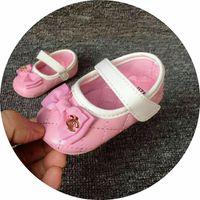 säuglingsbabyprinzessinschuhe großhandel-Frühling und Herbst Baby Mädchen Schuhe Neugeborenen Prinzessin PU Leder Erste Wanderer Schuhe Infant Prewalker Schuhe