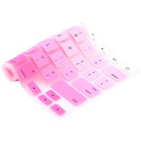 laptop arco-íris venda por atacado-Teclado de silicone colorido tampa do teclado protetor da pele para apple macbook 11
