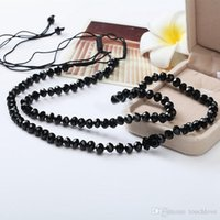 Wholesale Unique Beaded Necklaces - 2017 Stone Beads Bear Necklace For Women Hand Made Traditional Unique Design Hot Selling Black Cute