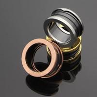 Wholesale cheap men wedding ring - Luxury Brand Bulgar High Quality Stainless Steel Ring Men Women Wholesale Cheap Lover's Wedding Ceramic Ring Jewelry