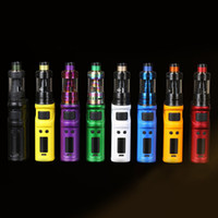 Wholesale free crowns - Original Uwell Ironfist Kit Ecig with IRONFIST 200W Mod and CROWN III Atomizer Fit dual 18650 batteries 8 Colors DHL Free
