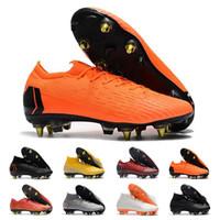 nuevos zapatos del fútbol de la llegada al por mayor-Botas de fútbol CR7 Mercurial Superfly V FG zapatos de fútbol Nueva llegada 2018 zapatillas C Ronaldo 7 de calidad superior de plata para hombre botines de fútbol