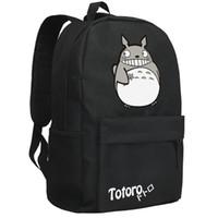 Wholesale Japanese Anime Backpacks - Wholesale- backpack2016women canvas japanese school bag Totoro backpack cute anime sac a dos leisure travel feminine bagpack youth