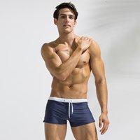 meninos surfando maiôs venda por atacado-2018 Verão Swimwear Homens Maiô Maillot De Bain Menino Ternos de Natação Boxer Shorts Troncos de Natação Surf Banadores mayo sungas