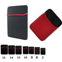 Wholesale ipad mini tablet bags online - Universal Soft Neoprene Sleeve Case Bag Cover Pouch Pocket For Macbook for Ipad air mini Tablet for Samsung Tab
