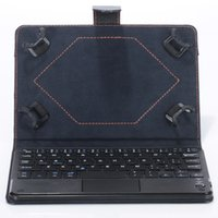 Wholesale universal inch android tablet keyboard resale online - Universal Bluetooth Keyboard Case with Touch Pad Removable keyboard Stand Cases for Android Windows Tablet PC inch