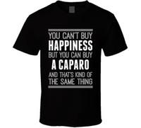 ingrosso comprare vestiti di cotone-Acquista A Caparo Happiness Car Lover T Shirt Maniche corte New Fashion T-Shirt Men Abbigliamento 2018 Manica corta in cotone T Shirt Uomo Abbigliamento