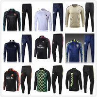 Wholesale training jogging jackets - New Brasil Portugal France soccer tracksuit 2018 World Cup adult soccer jacket jogging Ajax Nigeria Netherlands football training suit
