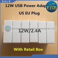 Wholesale original wall charger iphone online - Original AAAA Quality A W US EU UK USB Power Adapter Travel Wall Charger for i8 IX s Plus iPad Air MINI With retail box
