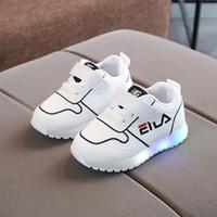 yeni moda serin örgü toptan satış-Yeni moda sıcak satış serin çocuk ayakkabı Örgü Sevimli moda Athleticoutdoor çocuk ayakkabı LED eğlence bebek kız erkek ayakkabı ayakkab ...