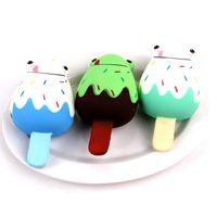 ingrosso telefono di rana-kawaii Squishy Jumbo 12cm Frog Ice Cream Squishy Slow Rising Sollievo dallo stress Giocattolo Spremere Charms Cinturino per telefono Squish kid Juguetes