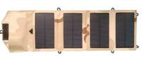 painéis solares dobráveis venda por atacado-Painel solar dobrável Monocrystalline da fábrica 7W + USB 5V + carregador de bateria solar do saco para Mobile / iPhone