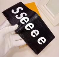 material de tarjetas al por mayor-Marca de moda de diseñador de estilo europeo Hombres de la moda monedero mini carteras de material de pu Multi-card monederos abiertos