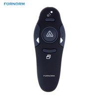 kablosuz sunum uzaktan lazer pointer toptan satış-PPT Powerpoint Sunum için Kırmızı Lazer Pointer Kalem USB RF Uzaktan Kumanda Sayfa Torna ile Fornorm Wireless Presenter 2.4GHz