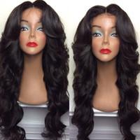 волосы бразильский парик продать оптовых-Бразильские волосы полные парик шнурка тела волны верхней части продавая парики поставки продуктов Ночные для черной женщины