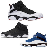 Wholesale cool shoe brands - Hot brand six 6 rings men basketball shoes French Blue Bulls Cool Grey Black Silver Grey Alternate Oreo Chameleon 6s sports Sneakers XZ21