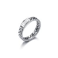 ingrosso gioielli freddi della mano-V-COOL buddismo gioielli moto donne anello a catena in acciaio inossidabile uomini biker mano fascino wedding band anelli di collegamento VR167