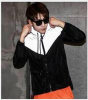 ingrosso giacche fluorescenti-Nuova moda uomo giacca casual giacca a vento hiphop 3m giacca riflettente marea di uomini e donne amanti di sport cappotto con cappuccio abbigliamento fluorescente