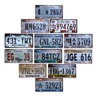 eski metal dekor toptan satış-Amerikan Plaka ABD Dekoratif Işaretleri Plak Eski Metal Kahve Barı Dekorasyon Ev Dekor 15x30 cm
