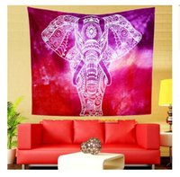 plain table cloths 2018 - Indian Mandala Tapestry SKULL Totem Peacock Hippie Wall Hanging Tapestries Beach Towel Yoga Mat Blanket Table Cloth DHL Free Shipping