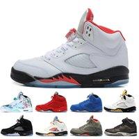 toile hautes ailes achat en gros de-Haute qualité 5 5 Wings International Flight Chaussures de basket-ball pour hommes