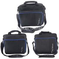 leinwand dünn großhandel-PS4 Pro Slim Spiel Sytem Reisetasche Canvas Case Schützen Schulter Carry Bag Handtasche für Sony PlayStation 4 Konsole und Zubehör