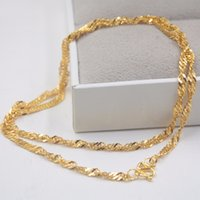 Wholesale 999 singapore gold for sale - Group buy Fine Pure K Yellow Gold Chain Women Singapore Link Necklace inch