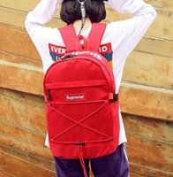 Wholesale traveling shoulder bags for men resale online - Fashion Supre Brand Backpack Double Shoulder Bags Luxury Outdoor Traveling Letter Printed Schoolbags For Students Backpacks Free Ship