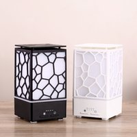 Wholesale essential oils water humidifier resale online - 200ML Water Cube Colorful Night Light Ultrasonic Air Humidifier Fine Foger Mist Maker Essential Oil Diffuser Aroma Diffuser