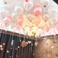 Wholesale Free Chinese Lantern - Wholesale-2018 Party Colorful Cheap Wedding Balloon 10 Inch Pearlized Round Circle Balloon 100pcs 1 Bags Pretty Decorations Free Shipping