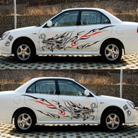 Wholesale Vinyl Dragon - auto decor 2pcs Universal Car Sticker Chinese Dragon Pattern The Whole Body Vehicle Vinyl Decals Graphics Car-styling Auto Decorations